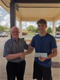 Richard presenting Jeremy Chiasson with a check (2)
